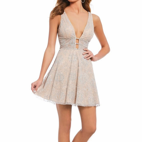 GB Dillard\u2019s Glitter Short Dress